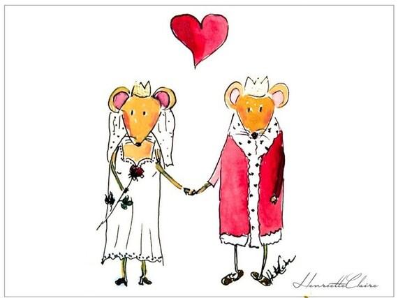 Mauskarte Glückwünsche Zur Hochzeit