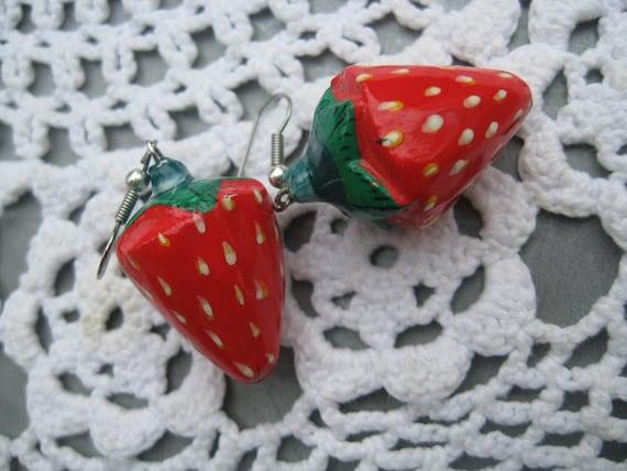 Earrings Strawberry, Strawberry Earrings, Strawber