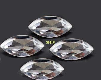 Jewelry Making Gemstone 50 Pieces 5x10 mm Marquise Smoky Quartz Cabochon Loose Gemstone