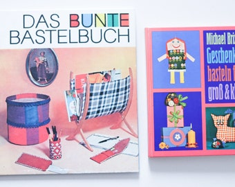 """2x DIY Craft Book GDR """"The Colorful Craft Book"""" 70s Kids """"Gifts Crafting for Big and Small"""" Sewing Sewing Pattern Vintage Instructions"""