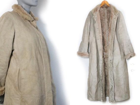 Vintage Coat M Sheepskin JOBIS Shearling Lammy cam