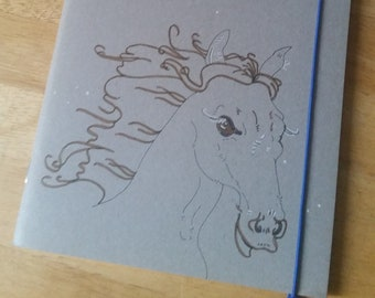 Horse head in the snow (unique)