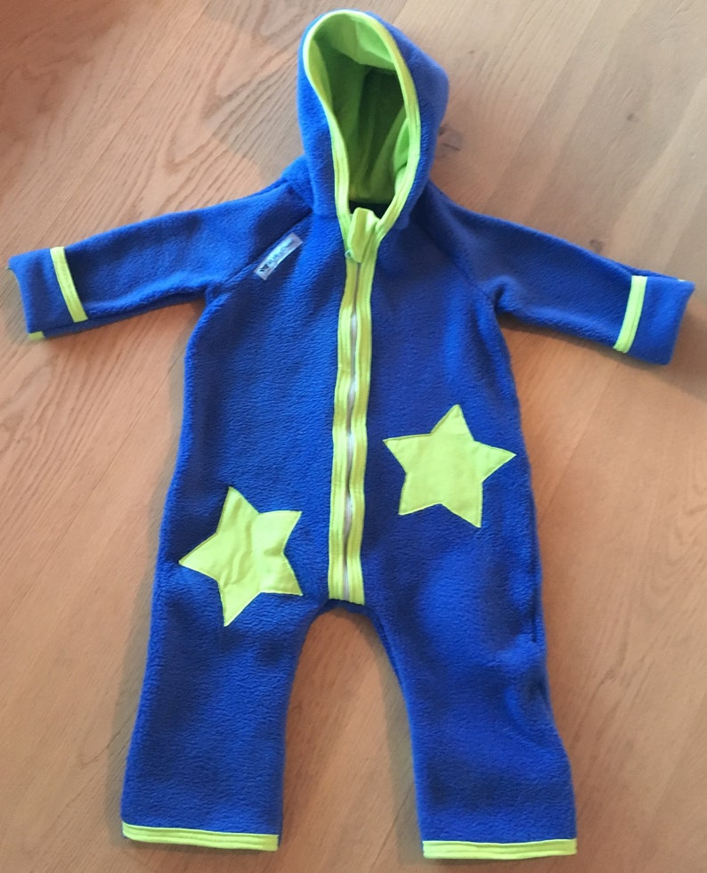Fleece Suit Overall Boy Baby Gr 50 98 With Pax