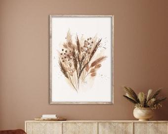 HERBST grasses, Watercolor-ART, Fineartprint-Poster