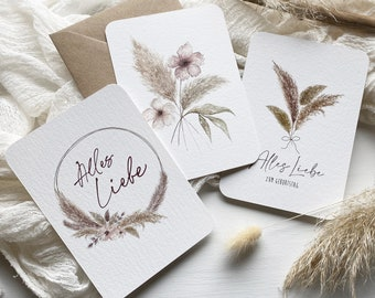 PAMPAS Postcards Set of 3 A6 with envelope