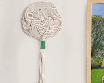 Macramé wall hanging tapestry, knot wall decor, Celtic knot tapestry, boho wall decor, knot wall hanging ornament.
