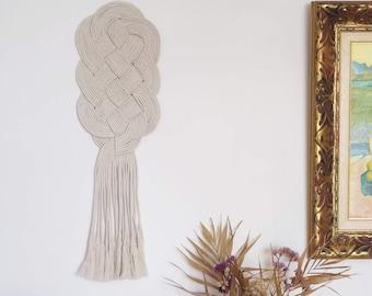 Macrame wall art hanging, textile fiber knot art, macrame rope art for hanging, rope neutral art, rope knot wall decor, wall art decor