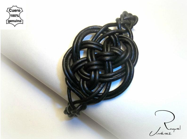 Pulsera de cuero nudo celta irlandés del amor eterno pulsera image 3