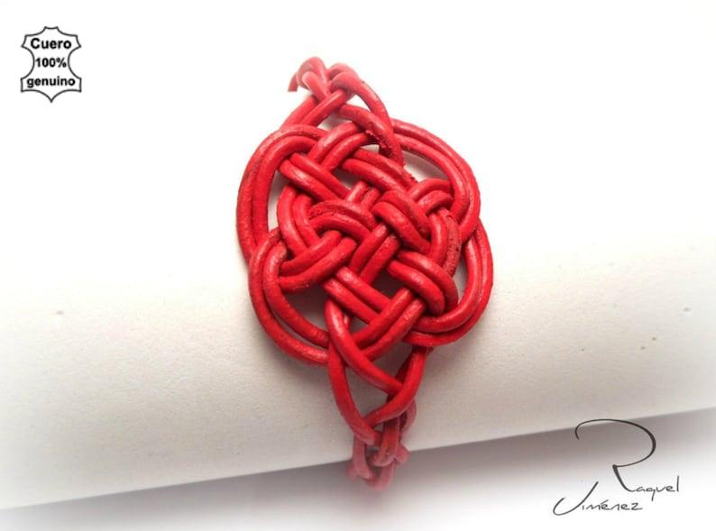 Pulsera de cuero nudo celta irlandés del amor eterno pulsera image 4