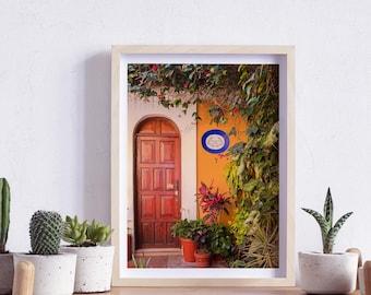 Oaxaca de Juárez, Mexico, Street, Windows and doors, Photography, Wall Art, Print, Digital Download