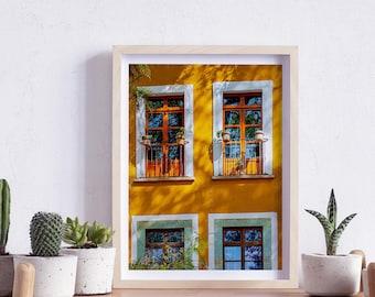 Guanajuato, Mexico, Street, Windows and doors, Photography, Wall Art, Print, Digital Download