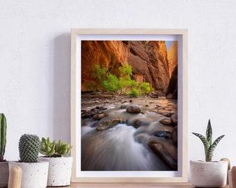 The Narrows, Zion National Park, Utah, Photography, Wall Art, Print, Digital Download