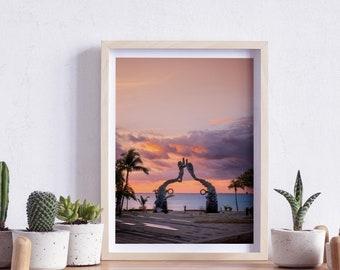 Playa del Carmen, Riviera Maya, Quintana Roo, Beach, Mexico, Fundadores Park, Sunrise, Wall art, Landscape Photography, Digital download