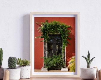 Valladolid, Yucatan, Mexico, Street, Windows and doors, Photography, Wall Art, Print, Digital Download