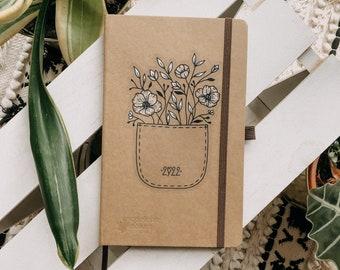Kalender 2022 Kalenderbuch good vibes Universum Umwelt Recycling Planer Kalender Jahreskalender