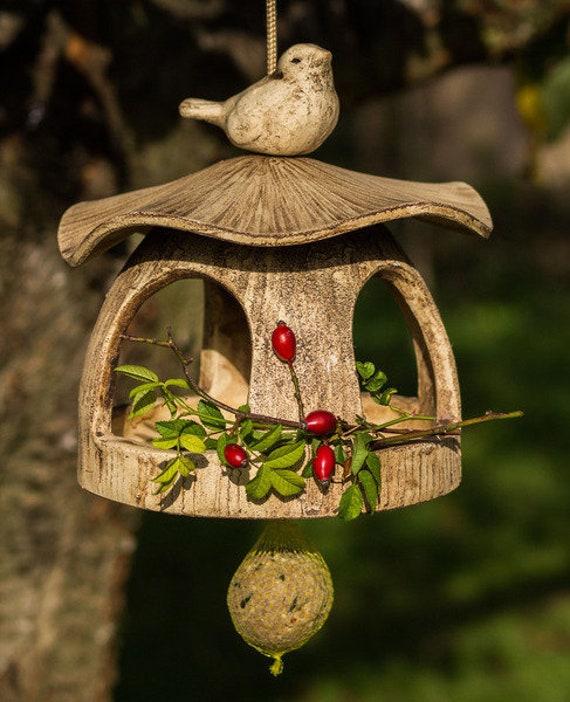 vogelhaus keramik natur keramikvogelhaus zum aufh ngen etsy. Black Bedroom Furniture Sets. Home Design Ideas