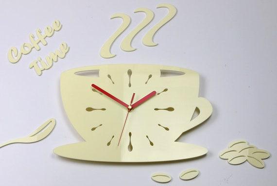 Orologio da parete cucina una tazza di cremoso 64 x 43 cm