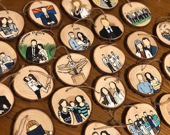Custom Ornaments, Family Ornament, Painted Ornaments, Custom Family Ornament, Wood Ornaments, Custom Christmas Ornament, Christmas Ornament