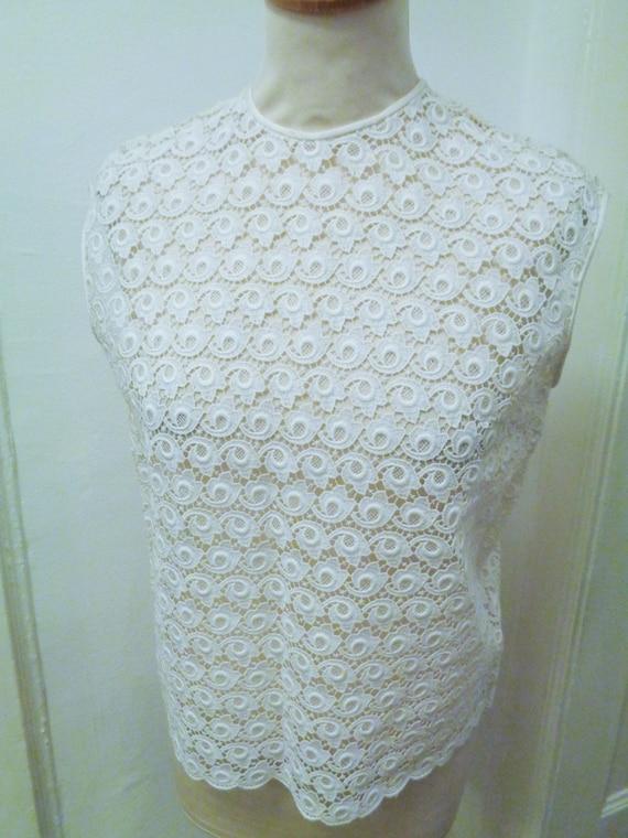enchanting lace blouse 40s 50s