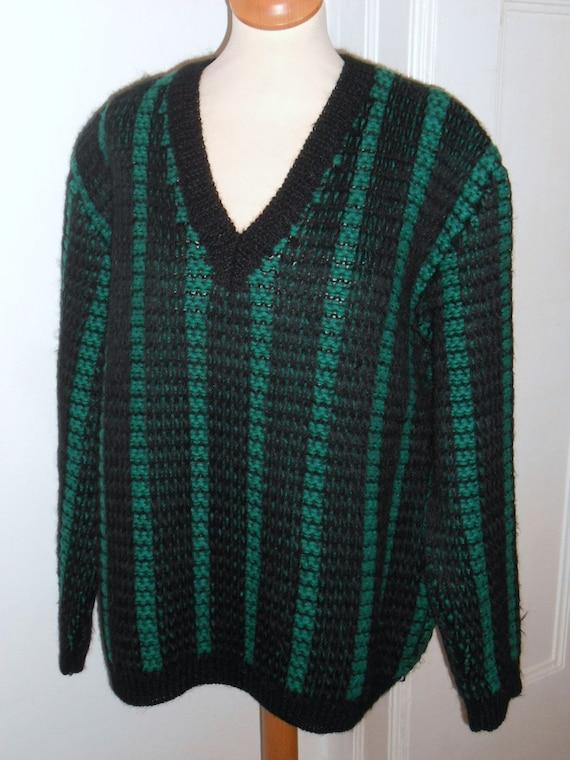 Chic soft vintage men's sweater 60s