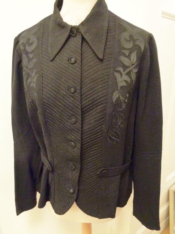 Women's jacket 30s 40s black costume jacket George