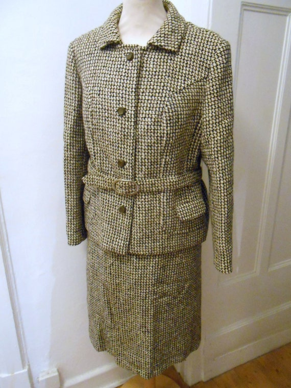 60s 70s vintage wool costume pepper Salt JOBIS