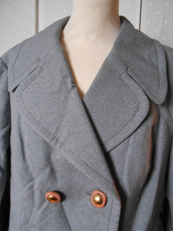 Great grey ladies wool coat 70s