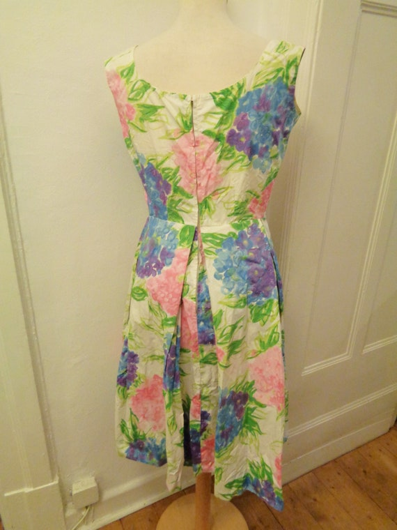 cute floral summer dress colorful 50s - image 4