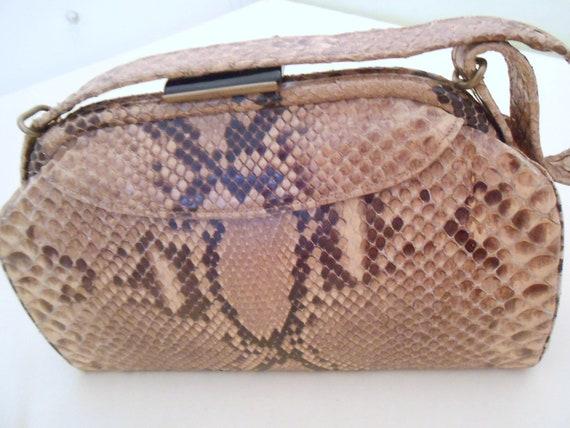 lovely handbag of 40s lizard snake
