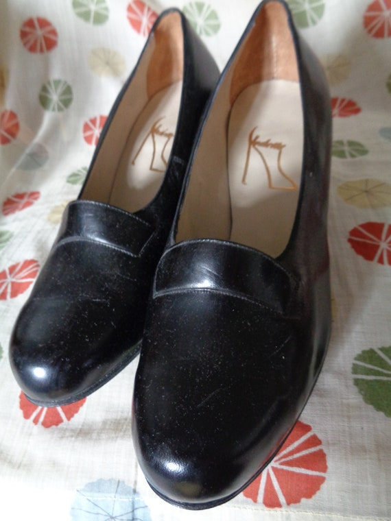 dreamy 40's 50s pumps black unworn