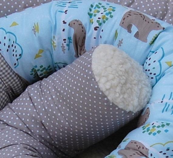 Bettrolle Bettschlange Nestchen Lagerungskissen 100-200 cm Baby Teddy mit Sternen 100 cm