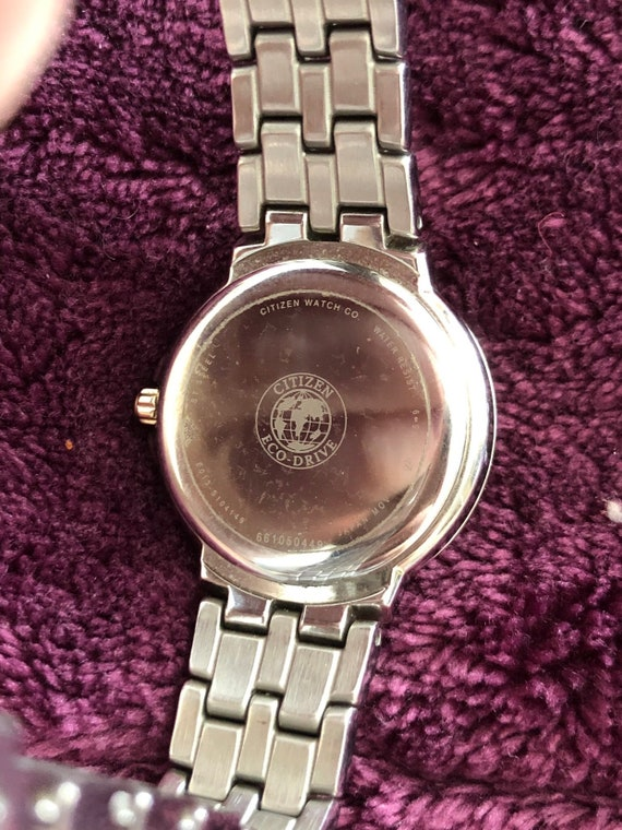 Citizen Ecodrive Authentic Ladie's Silhouette Crystal Watch EW2340-58A