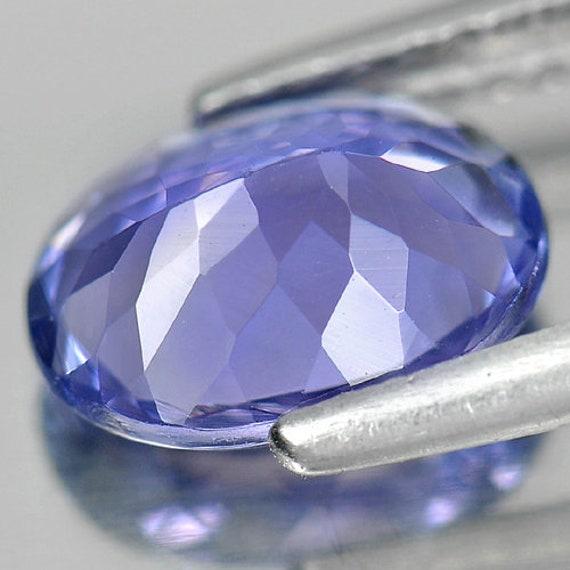 1,66 1,66 1,66 CT. forme ovale 8,9 x 6,7 Mm.Natural Pierre Tanzanite bleu violet 7a5e1b