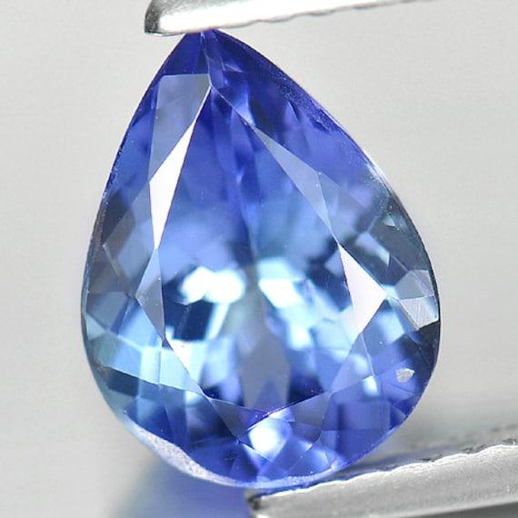 1,68 de en forme de 1,68 poire CT. 9.2 x 7 Mm. Pierre naturelle violet bleu Tanzanite 27d6c0