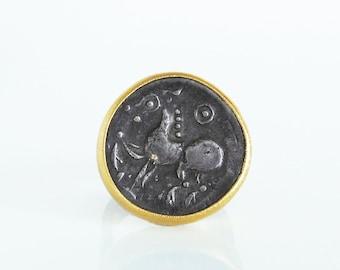 Ring Mit Antiker Münze Echt Eule Athen 900 Gold Etsy