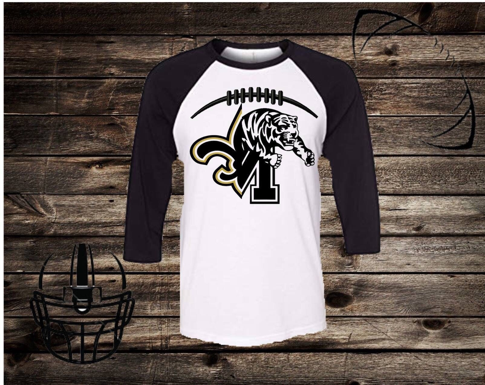 NFL Football/chemise Football Saints/Université de Memphis /College NFL équipe/personnalisé avec votre favori NFL /College et équipe de collège a766eb