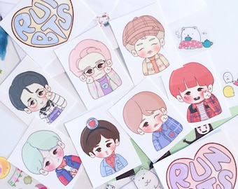 Han Jisung Stray Kids Squirrel Kpop Stationary chibi Sticker | Etsy