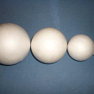 3cm runde Styroporkugeln Polystyrol Kugel weißer Schaum Art O1N4 O1K5 Craft M4V7