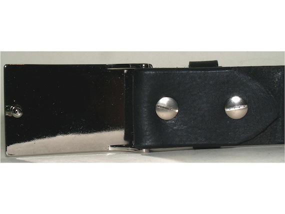 Ersatz Gürtelschnalle Passend für 30mm Strap//Gürtel Metall Schwarz Matt M Menge