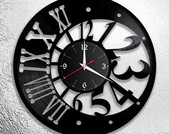 Record clock, vinyl, retro, wall clock