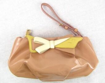 88a1a8fa4cb2 Authentic PRADA patent leather clutch wristlet bag vintage still has life