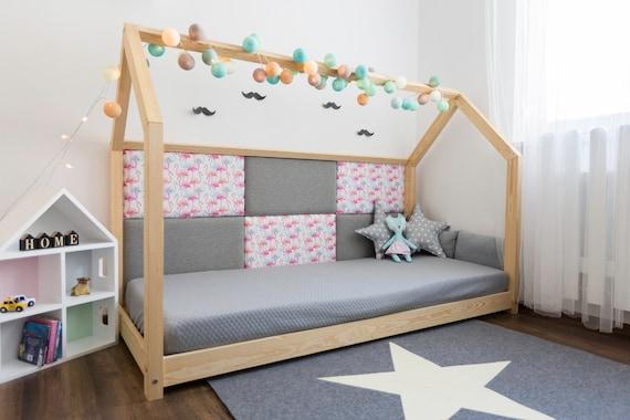 kinderbett hausbett 90x200cm 8paneele kleine etsy. Black Bedroom Furniture Sets. Home Design Ideas