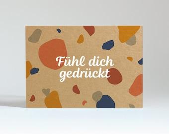 "Postcard ""Feel pressed"" (kraft box)"