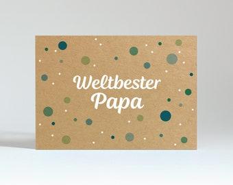 """Postcard """"World's Best Dad"""" (Power Box)"""