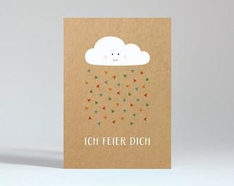 "Postcard ""I celebrate you"" (power carton)"