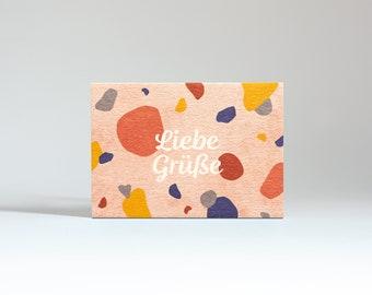 "Mini card ""Greetings"""
