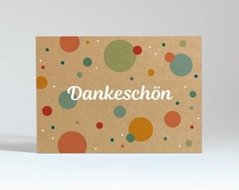"""Postcard """"Thank you"""" (kraft box)"""