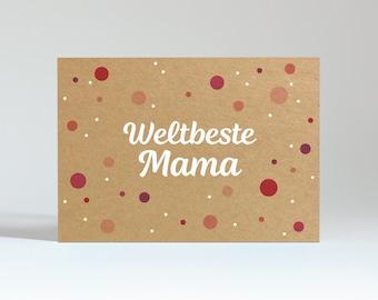 "Postcard ""World's Best Mom"" (Kraftkarton)"