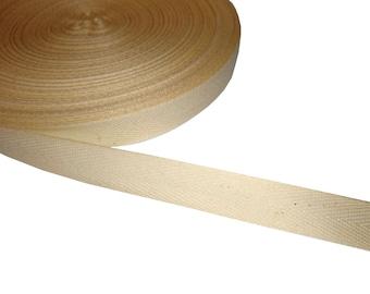 5 m cotton ribbon natural 15 mm