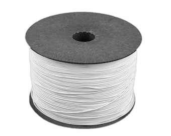 5 m thin round rubber 1.2 mm rubber cord White